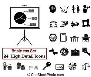 24, ícones negócio