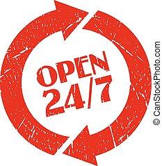 24 , γραμματόσημο , ανοίγω , ώρα