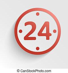 24 , μορφή , ρολόι , - , σήμα , ώρες , μικροβιοφορέας , ημέρα