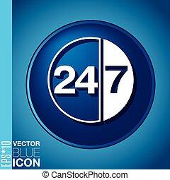 24, 7., caractère