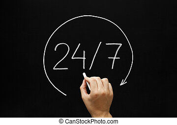 24, 7, concept