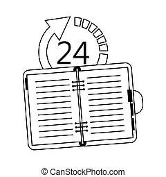 24 7 service icon image