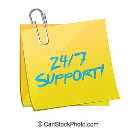 24 7 support post illustration design