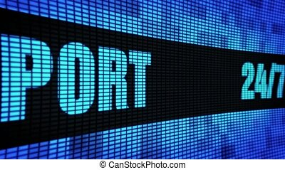 24 7 Support Side Text Scrolling LED Wall Pannel Display...