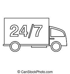 24 7 truck transport service