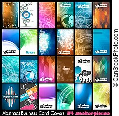 24 Abstract quality background for business cards or...