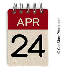 24, apr, calendrier