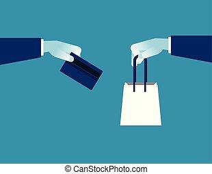 24, client, concept, achats, service., business, plat, soutien, heures, vecteur, ligne, ecommerce, illustration.