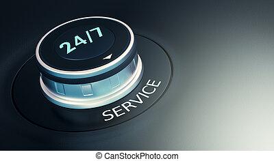 24, concept, 7, dienst