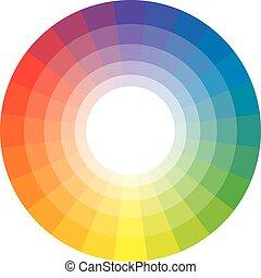 24, flerfärgad, spectral, cirkel