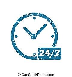 24, grunge, par, 7, icône
