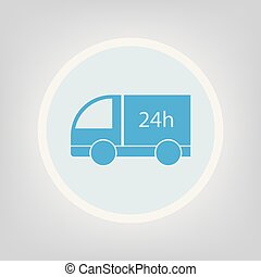 24 h delivery icon