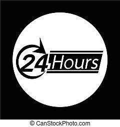 24 horas, ícone