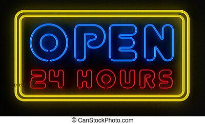 24 horas, señal abierta