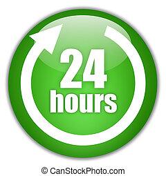 24 horas, servicio, señal