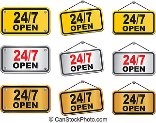 24 hour 7 day open sign
