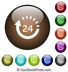 24 hour delivery color glass buttons