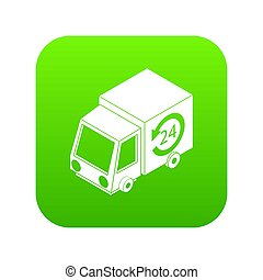 24 hour delivery icon green