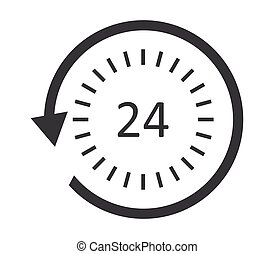 24-hour service icon