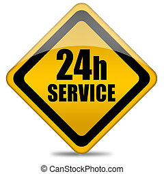 24 hour service sign - Twenty four hour service sign