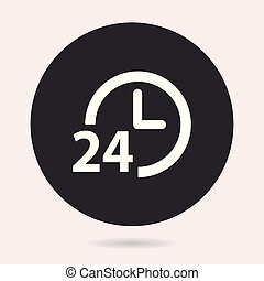 24 hour service - vector icon.