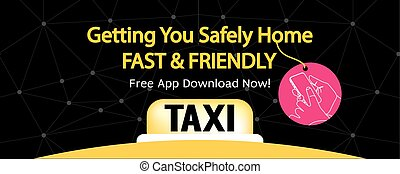 24 Hour Taxi Service Banner