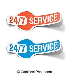 24 hours a day service sticker illustration