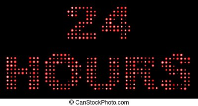 24 hours led text
