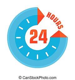 24 hours open blue