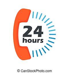 24 hours open phone