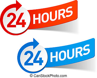 24 hours symbol - 24 hours