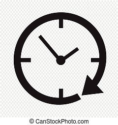 24, klocka, timme, ikon