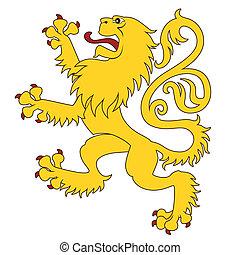 24, leone, araldico