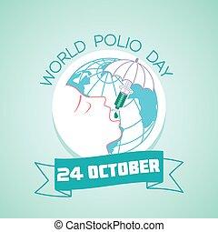 24, mundo, outubro, poliomielite, dia