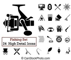 24, pesca, iconos