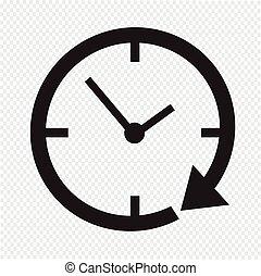 24, reloj, hora, icono