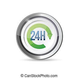 24 servizi ora, illustrazione, disegno, sigillo