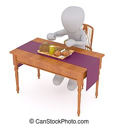 aveugle hamburger homme mange 3d aveugle manger illustration de stock rechercher. Black Bedroom Furniture Sets. Home Design Ideas