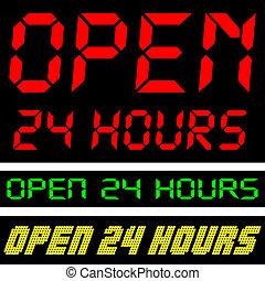 24 timmar, öppna