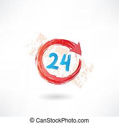 24 timmar, grunge, ikon