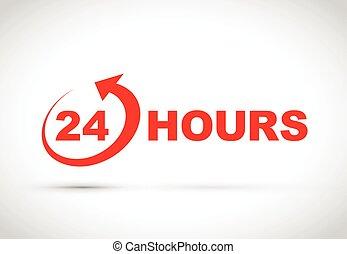 24 timmar, ikon