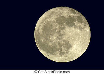 2400mm True Full Moon - True full April moon (Michigan, USA...