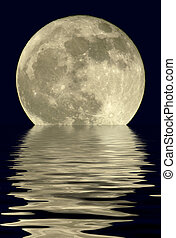 2400mm True Full Moon - True full April moon (Michigan,...