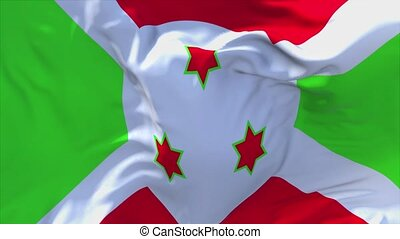 245. Burundi Flag Waving in Wind Continuous Seamless Loop Background.
