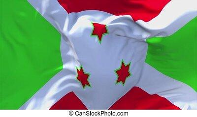 245. Burundi Flag Waving in Wind Continuous Seamless Loop Background.