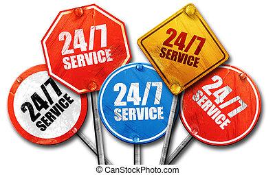 24/7, оказание услуг, 3d, оказание, грубый, улица, знак,...