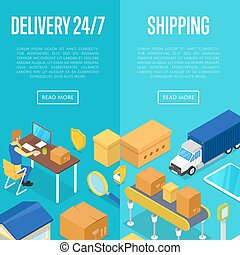 24/7 delivery and freight shipping set - 24/7 delivery and...