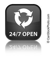 24/7 open special black square button