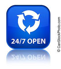 24/7 open special blue square button