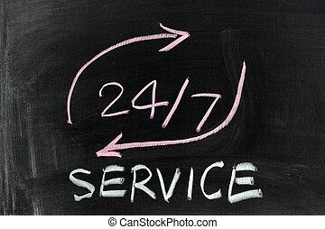 24/7, serviço